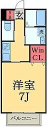 第一八洲荘NEO(ヤシオソウ)[2階]の間取り