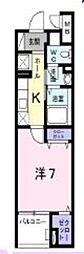 京王相模原線 京王堀之内駅 徒歩5分の賃貸マンション 3階1Kの間取り