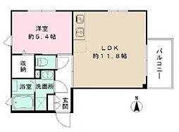 東京都新宿区内藤町の賃貸マンションの間取り