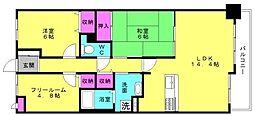 ライオンズマンション加古川[407号室]の間取り