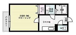 フォーレスト笹原[206号室]の間取り