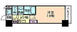 アーデン西天満[4階]の間取り