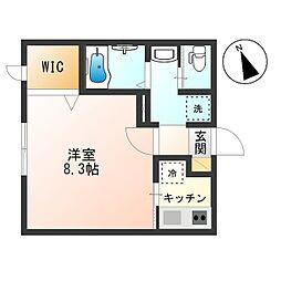 東京都杉並区成田西2丁目の賃貸マンションの間取り