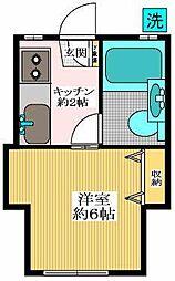 東京都狛江市東野川2丁目の賃貸アパートの間取り