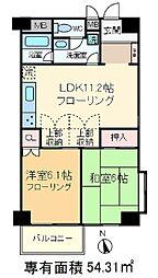 ライブ赤羽[9階]の間取り