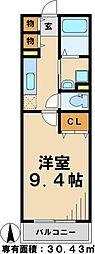 北総鉄道 東松戸駅 徒歩6分の賃貸アパート 1階1Kの間取り