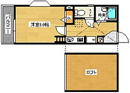 イーストピュア筥松[202-0号室]の間取り