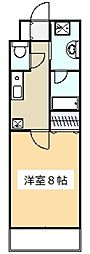 クレールメゾンA号棟[3階]の間取り