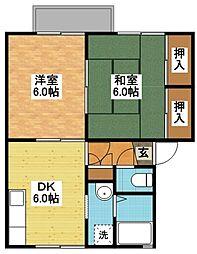 オレンジハウス[1階]の間取り