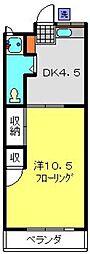 羽沢コーポ[202号室]の間取り