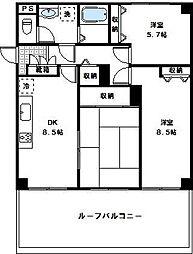 神奈川県川崎市高津区末長1丁目の賃貸マンションの間取り