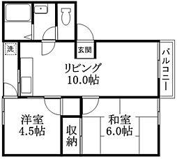 Bコーポハマダ[2階]の間取り