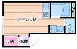 シャトレー箕面2nd[1階]の間取り