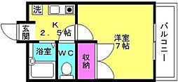 ネクストステージ福吉台[3階]の間取り