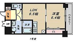 シティーコート大小路2[4階]の間取り