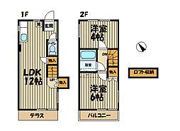 [テラスハウス] 神奈川県藤沢市大鋸 の賃貸【神奈川県 / 藤沢市】の間取り