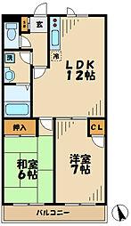東京都多摩市鶴牧6丁目の賃貸マンションの間取り