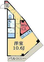 千葉都市モノレール 穴川駅 徒歩6分の賃貸マンション 1階1Kの間取り