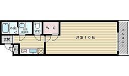 大阪府吹田市内本町2丁目の賃貸アパートの間取り
