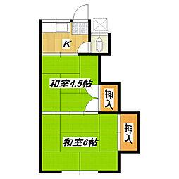 川上荘[203号室]の間取り