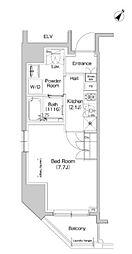JR総武本線 馬喰町駅 徒歩3分の賃貸マンション 4階1Kの間取り