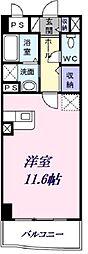 埼玉新都市交通 沼南駅 徒歩13分の賃貸マンション 3階ワンルームの間取り