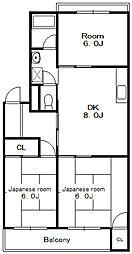 マンションなしや1号棟[1階]の間取り
