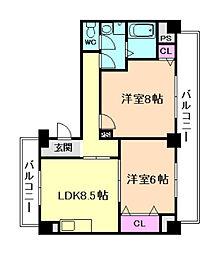第2マンションローヤル[3階]の間取り