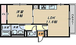 セレナーデ B棟[3階]の間取り