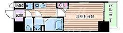 Osaka Metro千日前線 阿波座駅 徒歩6分の賃貸マンション 6階1Kの間取り