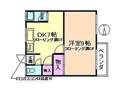 正栄マンション[4階]の間取り