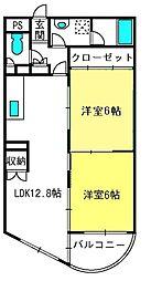 ルートマンション[4階]の間取り
