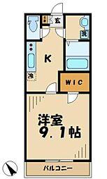 ルクレーゼ五月台[2階]の間取り