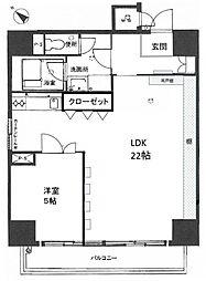 エクセレンス祇園[4階]の間取り
