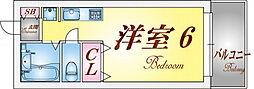 兵庫県神戸市須磨区関守町2丁目の賃貸アパートの間取り