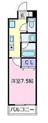 チェロマレ天美東[3階]の間取り