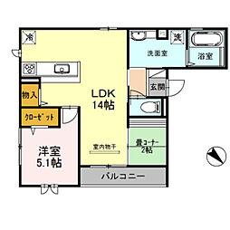 仮)D-room新金岡町5丁[1階]の間取り