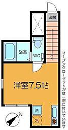 alley house[205号室]の間取り