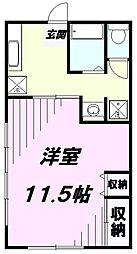 ハイツ江添[1階]の間取り
