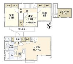 辻堂太平台2丁目住宅 2階3SLDKの間取り