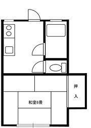 古田荘[2階]の間取り