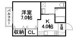 みのり II[2F号室]の間取り