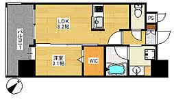 エンクレストベイ天神東II[2階]の間取り