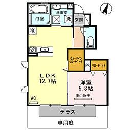 フェリオ A棟[1階]の間取り