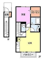 Lily−be安江(2F)[203号室]の間取り