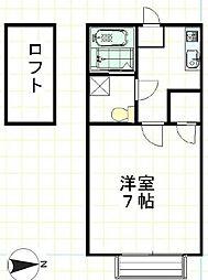 メゾンMI[1階]の間取り