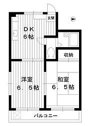 東京都練馬区豊玉中3丁目の賃貸マンションの間取り