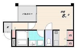 Nuova Vita[2階]の間取り