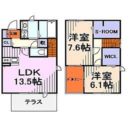 [テラスハウス] 埼玉県川口市前川4丁目 の賃貸【/】の間取り