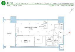 西鉄天神大牟田線 雑餉隈駅 徒歩2分の賃貸マンション 3階1LDKの間取り
